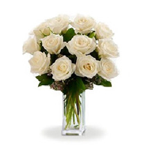 Dozen White Roses: Miss You