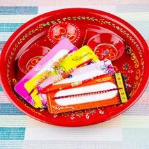 Four Rakhi With Traditional Thali: Rakhi Pooja Thali Australia