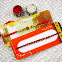 Lovely Brothers Two Rakhi Set: Australia Rakhi Delivery