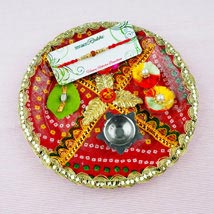 Pyar Bhara Rakhi with Traditional Thali: Australia Rakhi Delivery