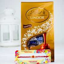 Rakhsa Rakhi With Lindt Chocolate: Australia Rakhi Delivery