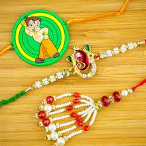 Three Family Rakhi Set: Australia Rakhi Delivery