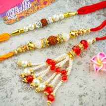Three Super Star Family Rakhi Set: Australia Rakhi Delivery