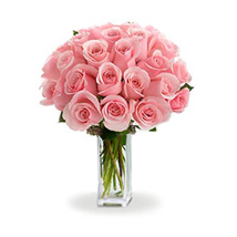 24 Pink Roses: Gifts to Canada for Friend