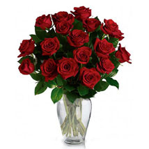 24 Red Roses in Vase: Gifts to Canada for Sister