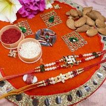Amazing Set Of Two Thali With Almond: Rakhi to Winnipeg