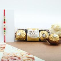 Beads Rakhi with Ferrero Rocher: Canada Rakhi Delivery