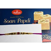 Beads Thread Rakhi N Soan Papdi: Rakhi to Winnipeg