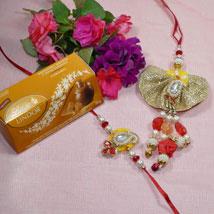 Beautiful Bhaiya Bhabhi Rakhi Lindt Lindor: Send Rakhi to Winnipeg