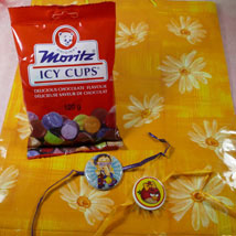 Kids Rakhi Set of Two with Moritz Icy Cups: Send Rakhi for Kids to Canada