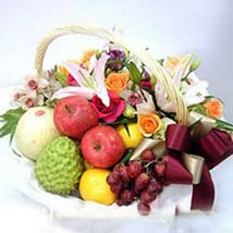 Flower fruit basket CIN: Love & Romantic Gifts To China