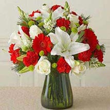 Red n white Vass arrangement CIN: