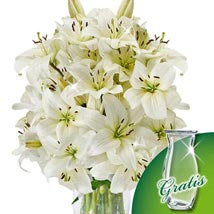 10 white lilies in a bunch: Send New Year Gifts to Germany