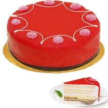 Dessert Raspberry Cake: Gifts to Frankfurt