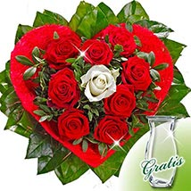 Rose Bouquet Amore with vase: Send Flowers to Bonn