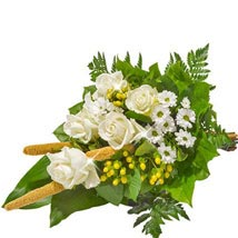 Sympathy Bouquet in White: Send Flowers to Bonn