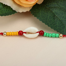 Sea Shell Charm Rakhi HAI: Send Rakhi to Haiti