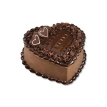 Chocolate Heart Cake: Send Gifts to Indonesia