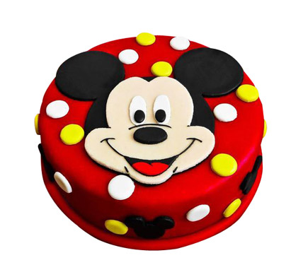 Adorable Mickey Mouse Cake 2kg Eggless