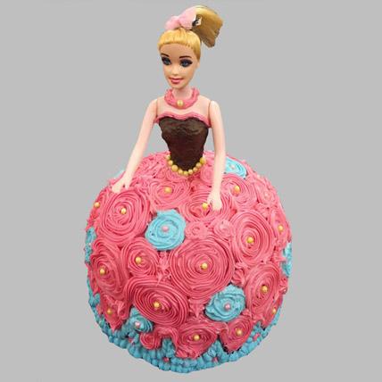 Dashing Barbie Cake Pineapple 3kg Eggless