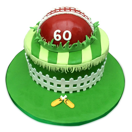 Designer Cricket Fever Cake 2kg Chocolate