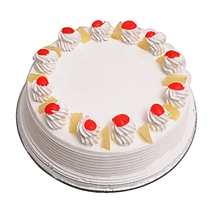 Eggless Pineapple Cake 1Kg by FNP