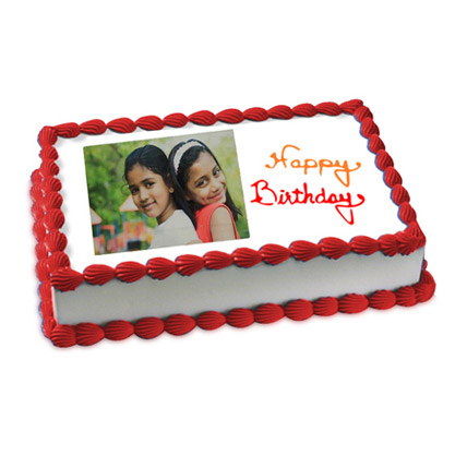 Happy Birthday Photo Cake Eggless 1kg by FNP