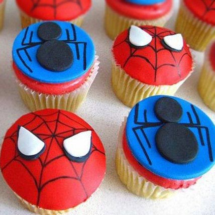 Meet the Spiderman Cupcakes 6 Eggless