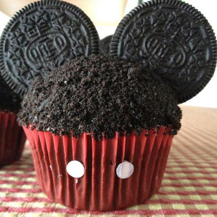 Mickey Mouse in a Cupcake 24 Eggless
