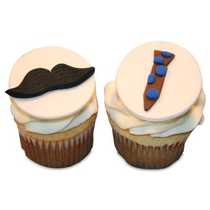 Moustache Tie Cupcakes 6