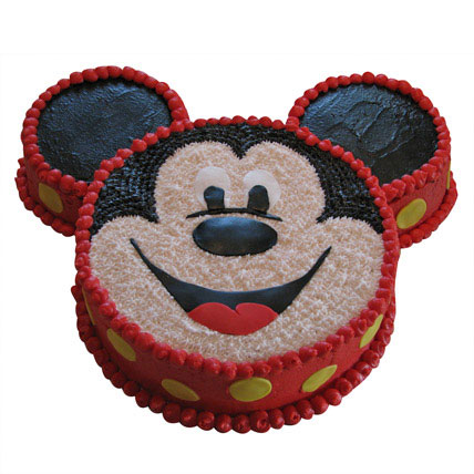 Smiley Mickey Mouse Cake 3kg Eggless