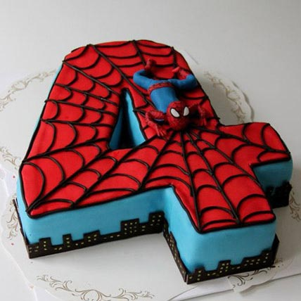 Spiderman Birthday Cake 4kg Eggless
