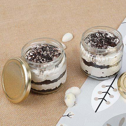 Trendy Tiramisu Jar Cake Jar Cake Eggless Set of 4
