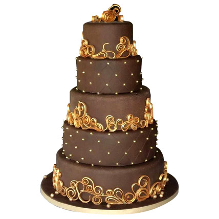 Wedding Celebrations Chocolate Cake 15kg Eggless