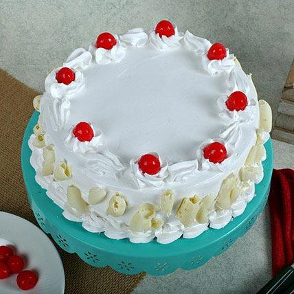 White Forest Cake Half kg Eggless