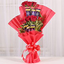 Chocolate Rose Bouquet: Buy Chocolates Shopping  India