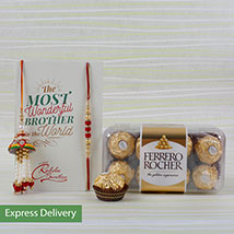Chocolates with lumba rakhi