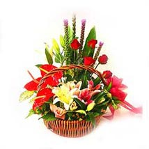 Arrangement of mixed seasonal flowers: Valentines Day Gifts to Malaysia