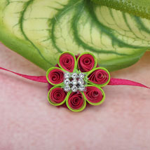 Paper Quilling Flower Rakhi NZ: Rakhi to New Zealand