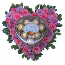 Heart of Gold Pink PIL: Flowers N Chocolates