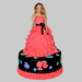 Wavy Dress Barbie Cake 2Kg Chocolate