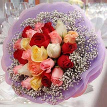 20 Mixed Roses Posy: Sorry Flowers To Singapore