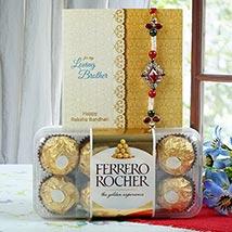 Deginer Rakhi with Rocher: Singapore Rakhi Delivery