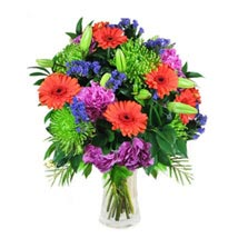 Mix Bouquet in Vase: Christmas Flowers Singapore