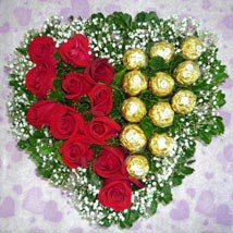 Roses with Ferrero: Send Chocolates to Singapore