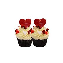 6 Red Velvet Cup Cakes: