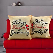 Always Kiss Me Cushions: Valentines Day Gifts for Her