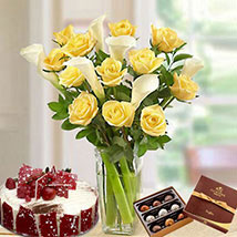Blissful Combo: Birthday Flowers and Cakes in UAE