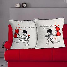 Everlasting Love Cushion: Valentines Day Gifts for Her