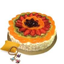 Fruit Cake with Rakhi: Send Rakhi to Fujairah